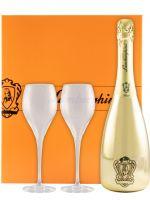 Sparkling Wine Lamborghini Gold Brut w/2 Glasses