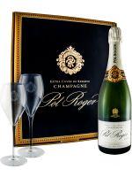 Champagne Pol Roger Brut c/2 Flutes