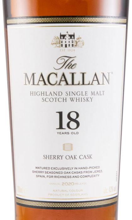 2020 Macallan 18 years Sherry Cask