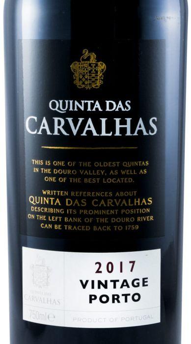 2017 Real Companhia Velha Quinta das Carvalhas Vintage Porto