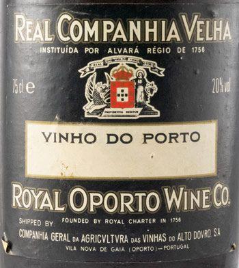 1917 Real Companhia Velha Colheita Port (pyrography bottle)