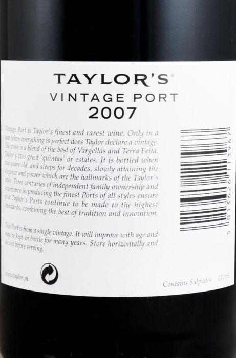 2007 Taylor's Vintage Porto