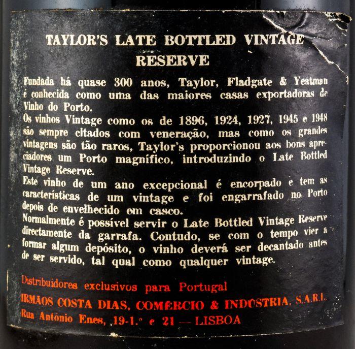 1967 Taylor's LBV Porto