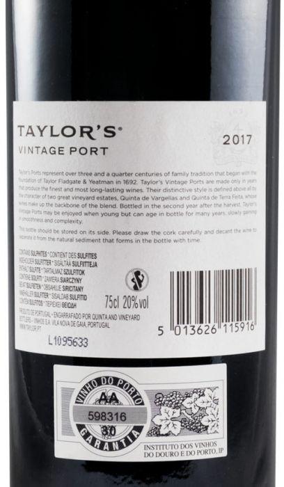 2017 Taylor's Vintage Porto