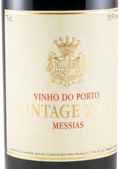 2007 Messias Vintage Porto (rótulo de papel)