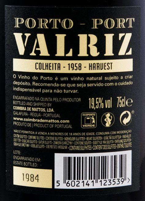 1958 Valriz Colheita Port