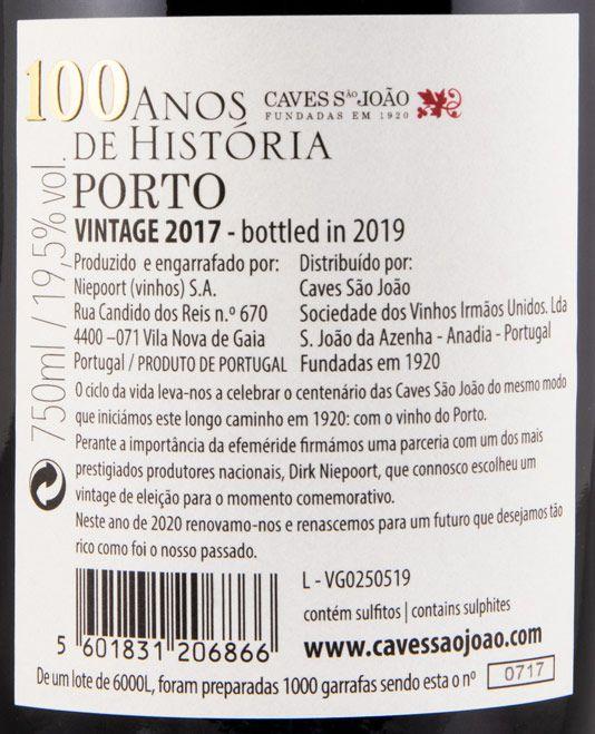 2017 Caves São João 100 Anos de História Vintage Porto