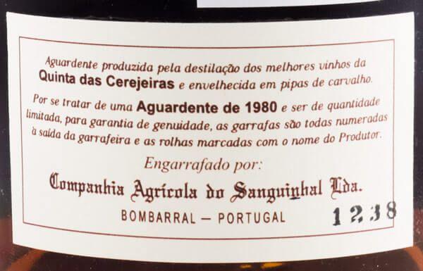 1980 Aguardente Vínica Quinta das Cerejeiras Reserva