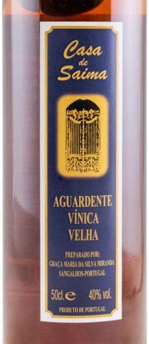 Aguardente Vínica Casa de Saima Envelhecida