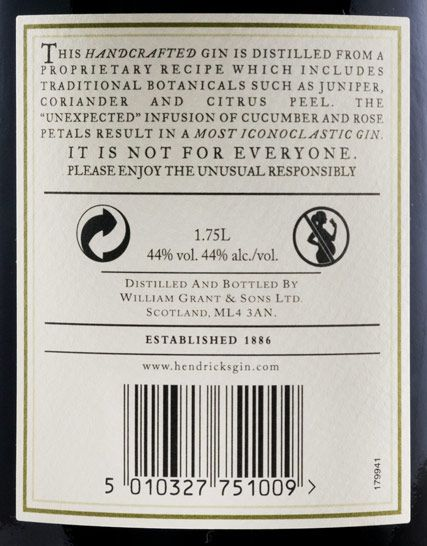 Gin Hendrick's 1.75L
