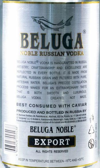 Vodka Beluga Noble Russian 6L