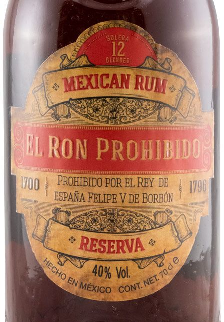 Rum El Ron Prohibido Solera Blended 12 years