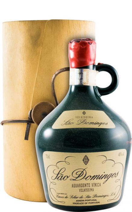 Aguardente Vínica São Domingos Velhíssima (garrafa em porcelana)