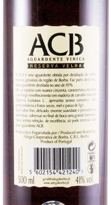 Aguardente Vínica Borba Reserva Velha 50cl