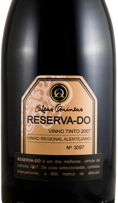 2007 Altas Quintas Reserva-Do красное