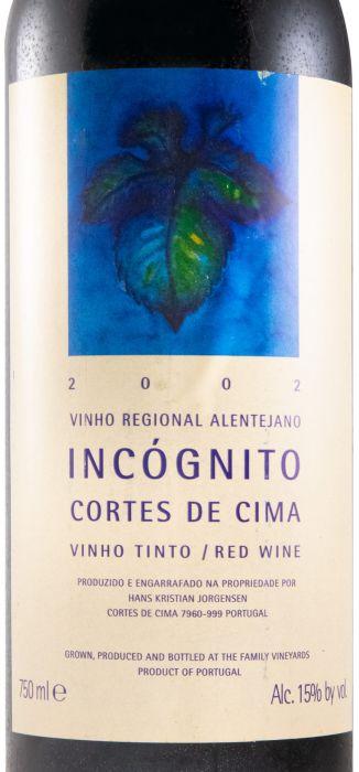 2002 Cortes de Cima Incógnito red