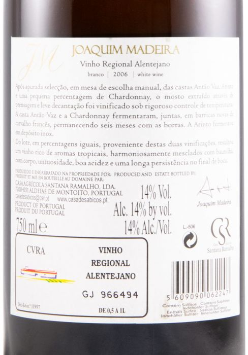 2006 Joaquim Madeira white