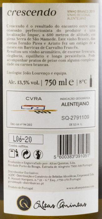 2019 Altas Quintas Crescendo white