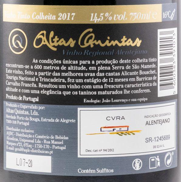 2017 Altas Quintas Colheita tinto