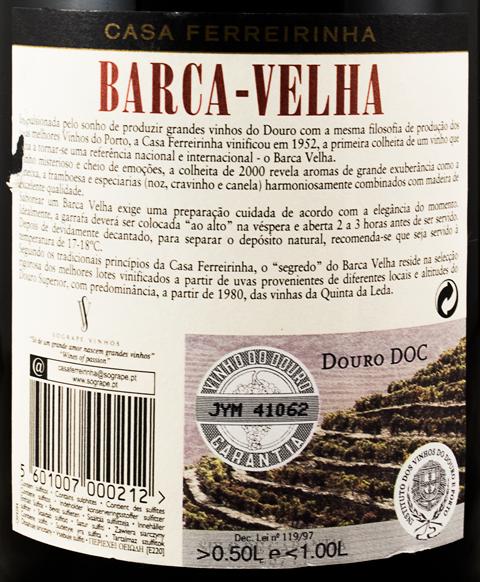 2000 Barca Velha tinto