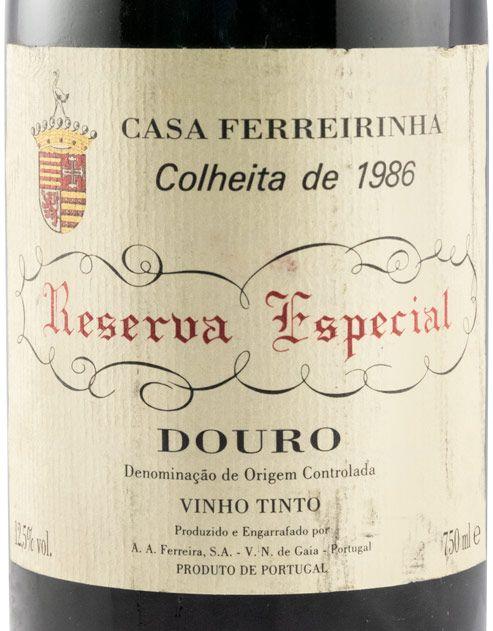 1986 Casa Ferreirinha Reserva Especial red
