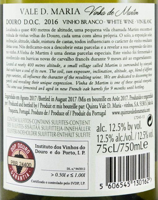 2016 Quinta Vale Dona Maria Vinha do Martim branco