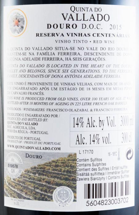 2015 Vallado Reserva tinto 3L