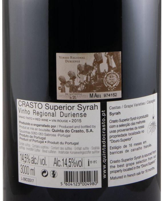 2015 Crasto Superior Syrah red 3L