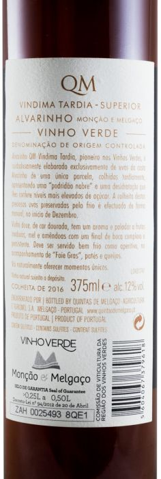 2016 Quintas de Melgaço QM Алваринью Вино позднего сбора 350 мл