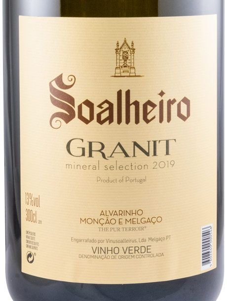 2019 Soalheiro Granit Alvarinho branco 3L