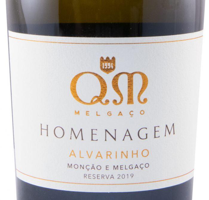 2019 Quintas de Melgaço QM Homenagem Alvarinho белое
