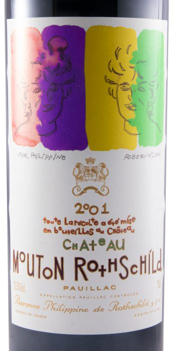 2001 Château Mouton Rothschild red