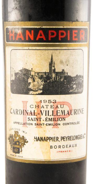 1953 Château Cardinal-Villemaurine Hanappier red