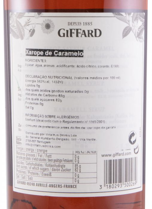 Xarope Caramel Giffard 1L