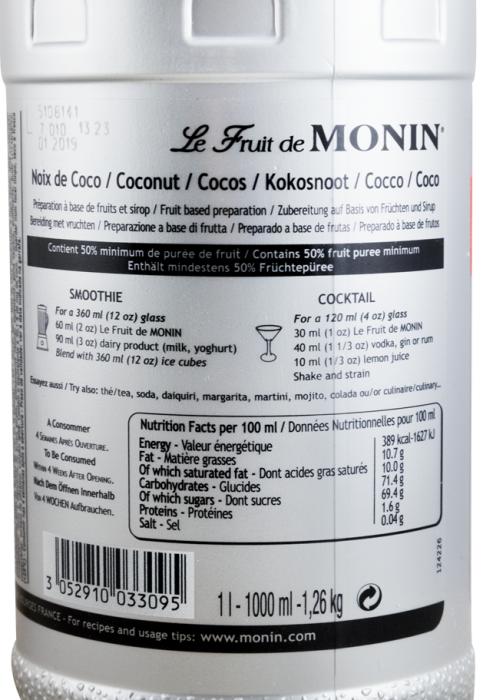 Fruit Puree Coco Monin 1L