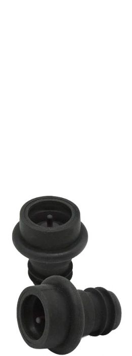 Pack of 2 Black Vacuum Stoppers