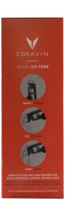 Coravin Sistema de Preservação de Vinhos Modelo 6 Core Piano Preto