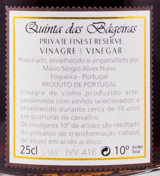 Vinagre Quinta das Bágeiras 25cl