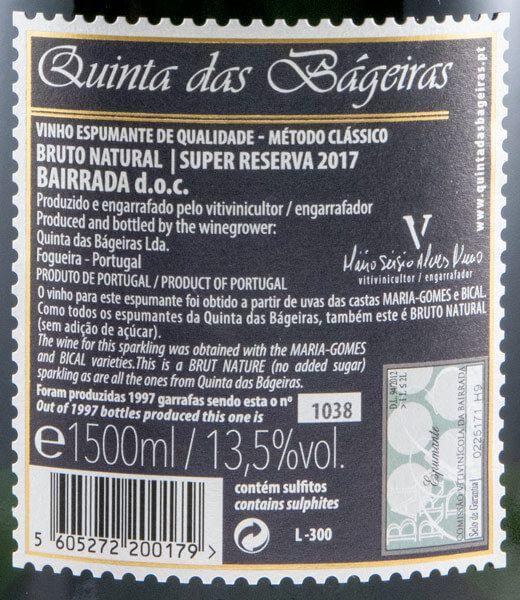2017 Espumante Quinta das Bágeiras Super Reserva 1,5L