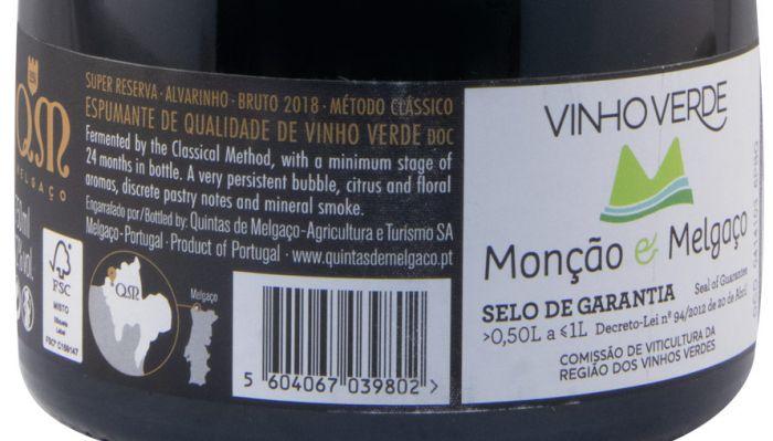 2018 Sparkling Wine Quintas de Melgaço QM Super Reserva Alvarinho white