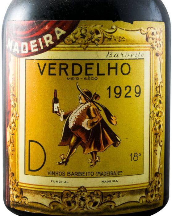 1929 Madeira Barbeito Verdelho