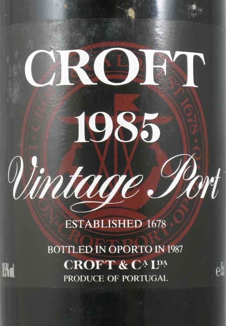 クロフト・ヴィンテージ ポート 1985年