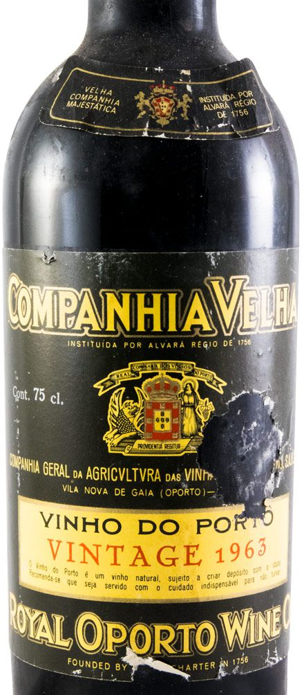 1963 Real Companhia Velha Vintage Porto (rótulo preto)