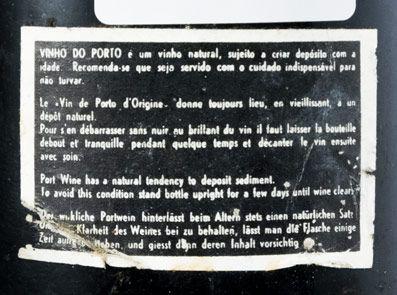 1958 Real Vinícola Vintage Port