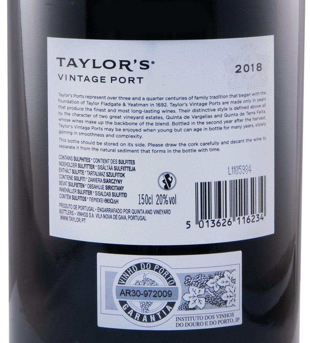 2018 Taylor's Vintage Porto 1,5L