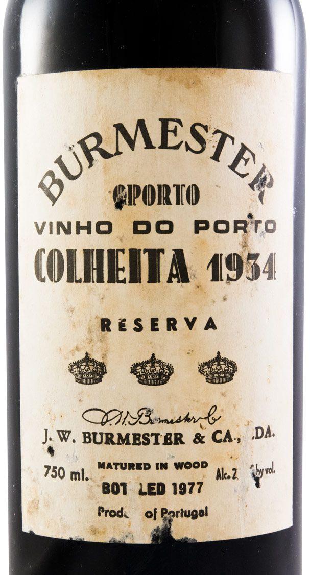 1934 Burmester Colheita Porto