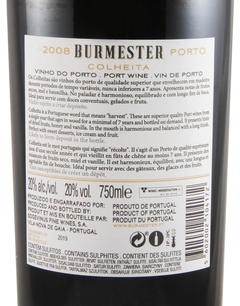 2008 Burmester Colheita Port