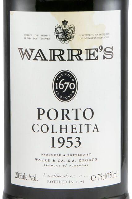 1953 Warre's Colheita Port