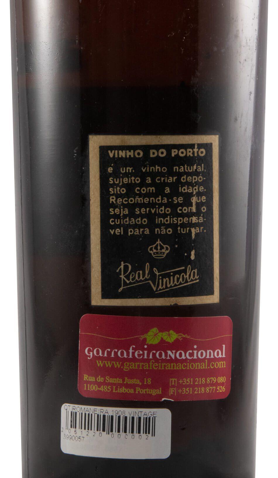 1908 Quinta da Romaneira Vintage Porto