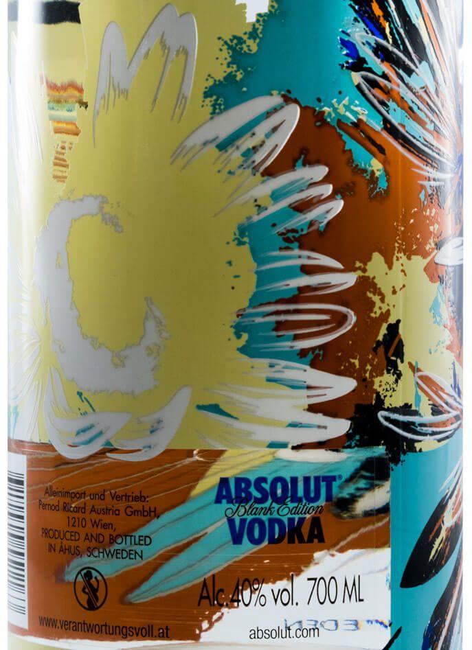 Vodka Absolut Blank Edition Dave Kinsey